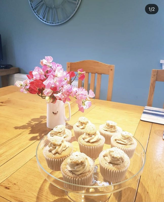 Fresh cupcakes delivered for Kersmains Cottages